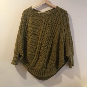 Anthro Angels of the North Curved Hem Poncho